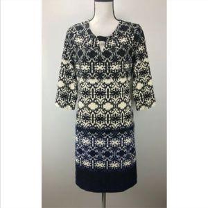 Taylor Shift Dress Size 8 Scoop Neck 3/4 Sleeve
